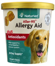 NaturVet Aller-911 Allergy Aid plus Antioxidants - 70 Soft Chews