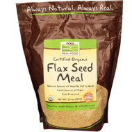 Now Foods, Real Food, Certified Organic, Flax Seed Meal, 22 oz (624 g)