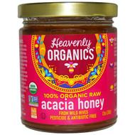 3 PACK of Heavenly Organics Organic Raw Acacia Honey -- 12 oz