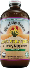 Lily of the Desert Organic Aloe Vera Juice Inner Fillet - 32 fl oz