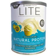 Designer Protein, Lite Protein, Low Calorie Natural Protein, Vanilla Cupcake, 9.03 oz (256 g)