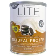 3 PACK of Designer Protein LITE Natural Protein Chocolate Cookies & Cream -- 9.03 oz