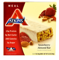 Atkins, Meal Bar,  Strawberry Almond - 5 Bars