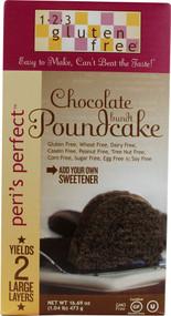 123 Gluten Free, Peris Perfect Bundt Poundcake,  Chocolate - 16.69 oz