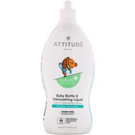 3 PACK OF ATTITUDE, Little One, Baby Bottle & Dishwashing Liquid, Pear Nectar, 23.7 fl oz (700 ml)