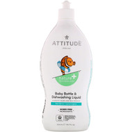 ATTITUDE, Little One, Baby Bottle & Dishwashing Liquid, Pear Nectar, 23.7 fl oz (700 ml)