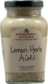 Stonewall Kitchen, All Natural Aioli,  Lemon Herb - 10 oz