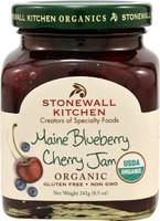 Stonewall Kitchen Organic Gourmet Jam  Maine Blueberry Cherry - 8.5 oz