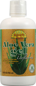 Dynamic Health  Laboratories, Aloe Vera Gel, 100% Juice, Unflavored, 32 fl oz (946 ml)