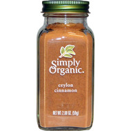 Simply Organic, Organic Ceylon Cinnamon, 2.08 oz (59 g)