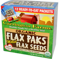 3 PACK of Carrington Farms Organic Milled Flax Seed Paks Gluten Free -- 12 Packs