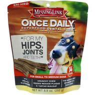 3 PACK OF The Missing Link, Once Daily, Superfood Dental Chew, For Small To Medium Dogs, 14 Chews, 8.9 oz (252 g)