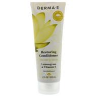 3 PACK OF Derma E, Restoring Conditioner, Volume & Shine, Lemongrass & Vitamin E, 8 fl oz (236 ml)