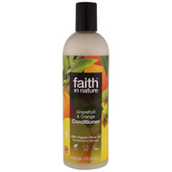 3 PACK OF Faith in Nature, Conditioner, For Normal to Oily Hair, Grapefruit & Orange, 13.5 fl. oz (400 ml)