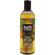 3 PACK OF Faith in Nature, Shampoo, For Normal To Oily Hair, Grapefruit & Orange, 13.5 fl oz (400 ml)