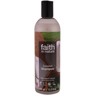 3 PACK OF Faith in Nature, Shampoo, For Normal to Dry Hair, Coconut, 13.5 fl oz (400 ml)