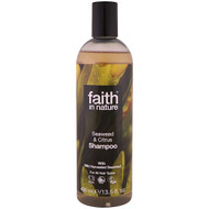 3 PACK OF Faith in Nature, Shampoo, For All Hair Types, Seaweed & Citrus, 13.5 fl. oz (400 ml)