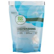 GrabGreen, Automatic Dishwashing Detergent Pods, Fragrance Free, 24 Loads, 15.2 oz (432 g)