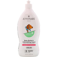 ATTITUDE, Baby Bottle & Dishwashing Liquid, Fragrance-Free, 23.7 fl oz (700 ml)