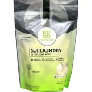 GrabGreen, 3 in 1 Laundry Detergent Pods, Vetiver, 24 Loads, 15.2 oz (432 g)
