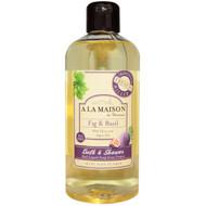 A La Maison de Provence, Bath and Shower Liquid Soap, Fig & Basil, 16.9 fl oz (500 ml)