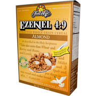 Food For Life, Ezekiel 4:9, Sprouted Whole Grain Cereal, Almond, 16 oz (454 g)