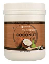 3 PACK of Vitaco Cold Pressed Extra Virgin Coconut Oil - Non-GMO and Gluten Free -- 16 fl oz (473 mL)