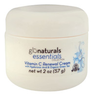 Glonaturals, Essentials Collection - Vitamin C Renewal Cream with Hyaluronic Acid & Organic Green Tea - Non-GMO - 2 oz