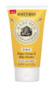 3 PACK of Burts Bees Baby Daily Cream to Powder Talc Free Diaper Rash Cream -- 4 fl oz