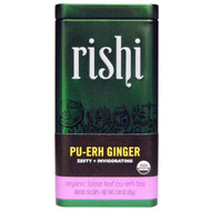 Rishi Tea, Organic Loose Leaf Tea, Pu-Erh Ginger, 3.00 oz (85 g)