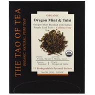 3 PACK OF The Tao of Tea, Organic Oregon Mint & Tulsi, 15 Pyramid Sachets, 1.05 oz (30 g)