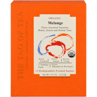 The Tao of Tea, Organic Melange, Three Assorted Varieties, 15 Pyramid Sachets, 1.32 oz (37.5 g)