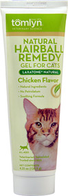 Tomlyn, Laxatone Natural Hairball Remedy Gel for Cats,  Chicken - 4.25 oz