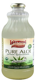 Lakewood Organic Fresh Pressed Pure Aloe Juice - 32 fl oz