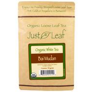 Just a Leaf Organic Tea, White Tea, Bai Mudan Loose Leaf Tea, 100% Pure, No GMOs, 2 oz (56 g)