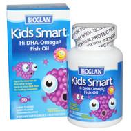 Bioglan, Kids Smart, Hi DHA-Omega 3 Fish Oil, Berry Flavor, 30 Chewable Burstlets