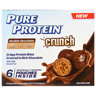 Pure Protein, Crunch, Crispy Protein Bites, Double Chocolate, 6 Individually Wrapped Pouches, 1.20 oz (34 g ) Each