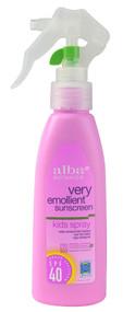 Alba Botanica, Very Emollient, Sunscreen, Kids Spray, SPF 40, 4 fl oz (118 ml)