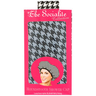 3 PACK OF Betty Dain Creations, The Socialite Collection, Houndstooth Shower Cap, 1 Shower Cap