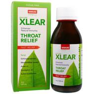 Xlear, Throat Relief Syrup, Fast Relief, Immune Formula, 4 oz (120 ml)