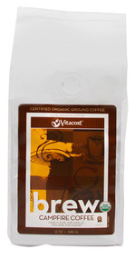 Vitaco, Brew Campfire Coffee 100% Arabica Certified Organic Ground Coffee - 12 oz (340 g)