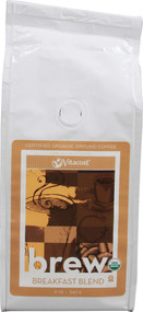 Vitaco, Brew Breakfast Blend 100% Arabica Certified Organic Ground Coffee - 12 oz (340 g)
