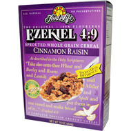 Food For Life, Ezekiel 4:9, Sprouted Whole Grain Cereal, Cinnamon Raisin, 16 oz (454 g)