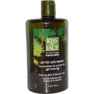 Kiss My Face, Anti-Stress Relaxing Bath & Shower Gel, Woodland Pine & Ginseng, 16 fl oz (473 ml)