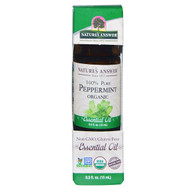 Natures Answer, Organic Essential Oil, 100% Pure Peppermint, 0.5 fl oz (15 ml)