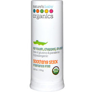 Natures Baby Organics, Soothing Stick, Fragrance Free, 0.63 oz (17.9 g)