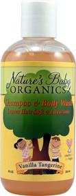 Natures Baby Organics Shampoo and Body Wash Vanilla Tangerine -- 8 fl oz