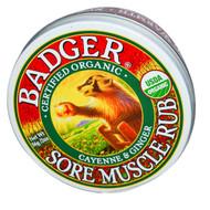 Badger Organic Sore Muscle Rub Tin Cayenne & Ginger - 2 oz