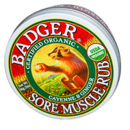 Badger Company, Organic, Sore Muscle Rub, Cayenne & Ginger, 2 oz (56 g)