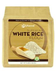 Vitaco, Superfine White Rice Flour - Non-GMO and Gluten Free,  White Rice Flour - 48 oz (3 lbs) 1.36 kg